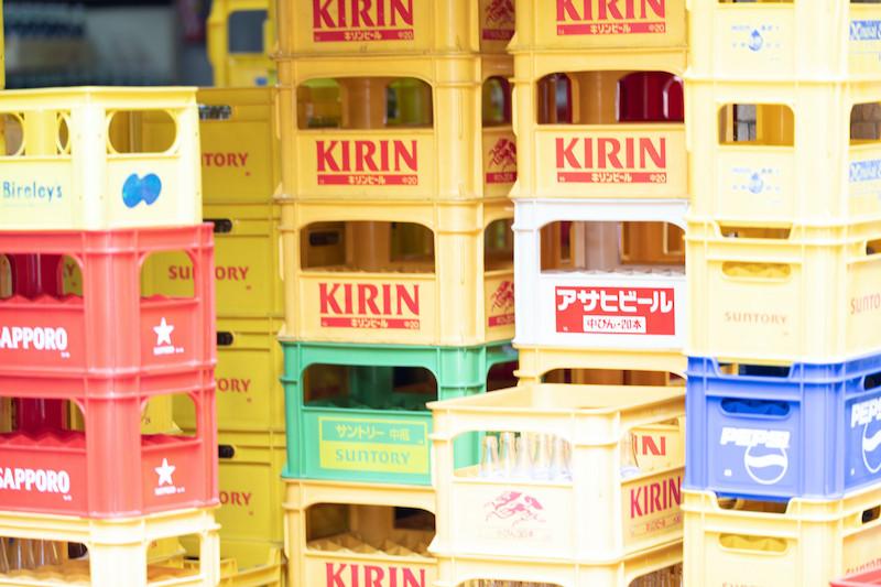 ビール箱の写真